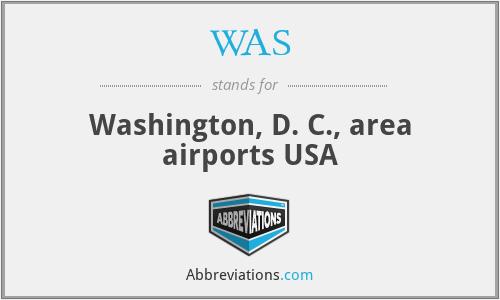 WAS - Washington, D. C., area airports USA
