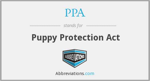 PPA - Puppy Protection Act
