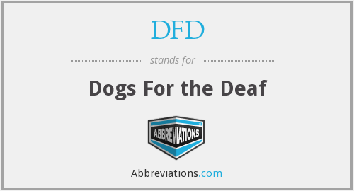 DFD - Dogs For the Deaf