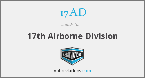 What does 17AD stand for?