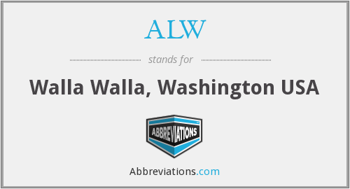 ALW - Walla Walla, Washington USA