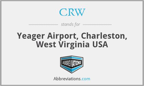 CRW - Yeager Airport, Charleston, West Virginia USA