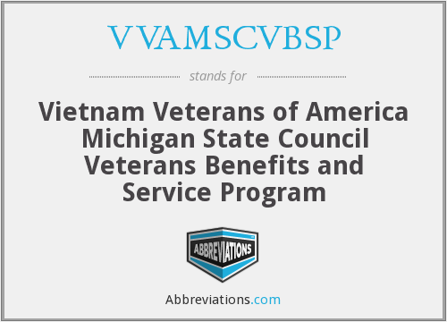 VVAMSCVBSP - Vietnam Veterans of America Michigan State Council Veterans Benefits and Service Program