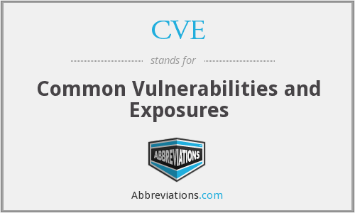 CVE - Common Vulnerabilities and Exposures