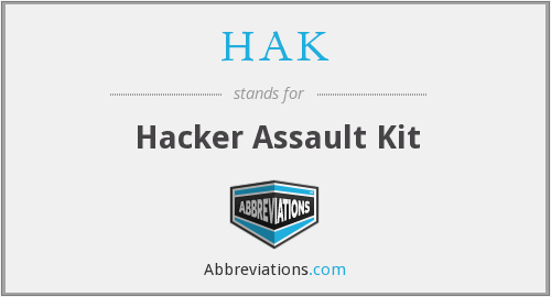 What does HAK stand for?
