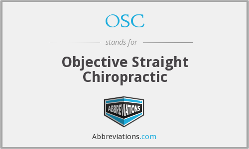 OSC - Objective Straight Chiropractic