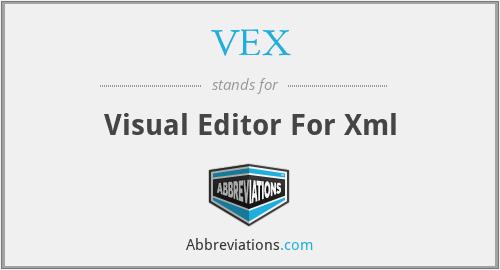 VEX - Visual Editor For Xml