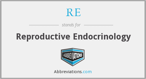 RE - Reproductive Endocrinology