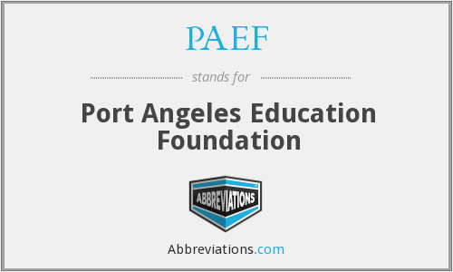 PAEF - Port Angeles Education Foundation