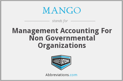 MANGO - Management Accounting For Non Governmental Organizations