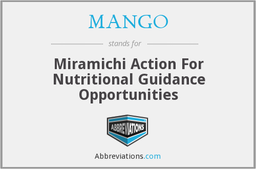 MANGO - Miramichi Action For Nutritional Guidance Opportunities