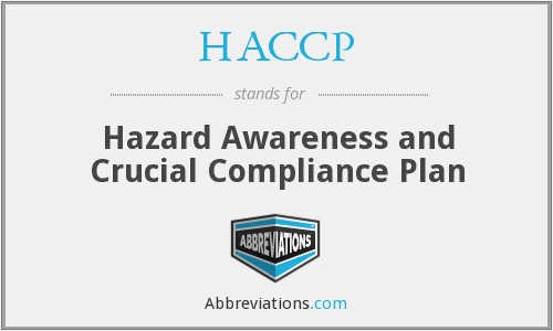 HACCP - Hazard Awareness and Crucial Compliance Plan