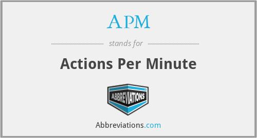 APM - Actions Per Minute