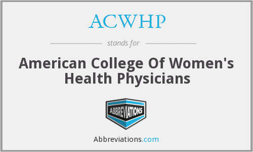What does ACWHP stand for?