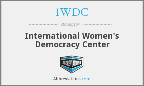 What does IWDC stand for?