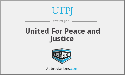 UFPJ - United For Peace and Justice