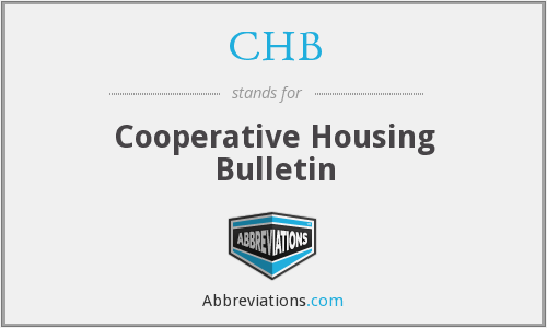 CHB - Cooperative Housing Bulletin