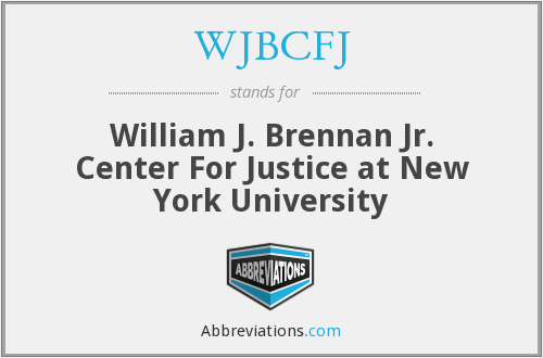 What does WJBCFJ stand for?