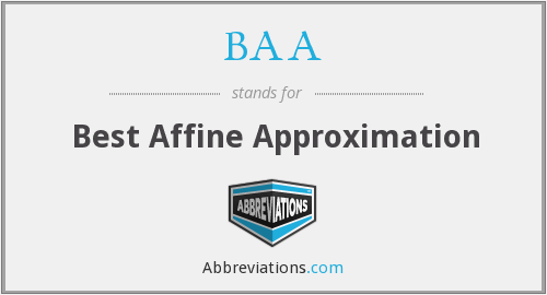 BAA - Best Affine Approximation