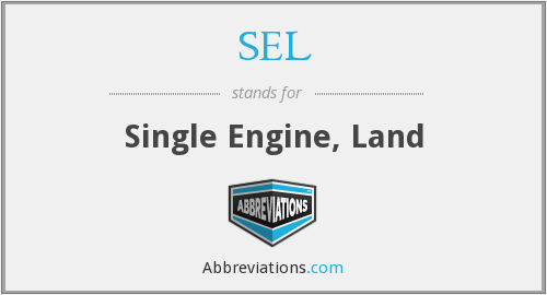 SEL - Single Engine, Land
