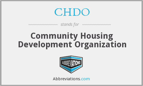 What does CHDO stand for?