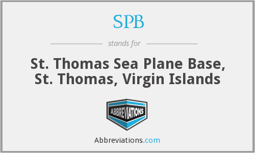 SPB - St. Thomas Sea Plane Base, St. Thomas, Virgin Islands