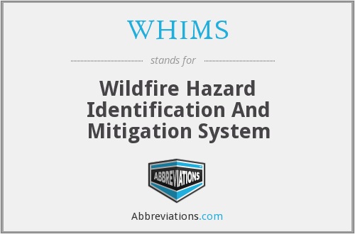 What does WHIMS stand for?