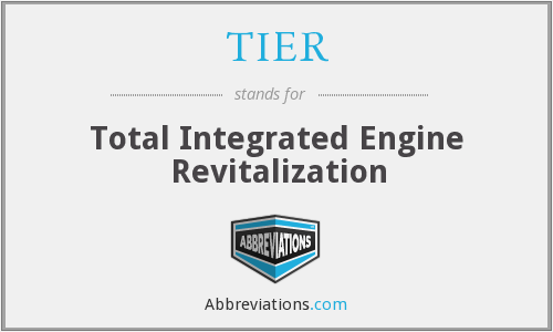 TIER - Total Integrated Engine Revitalization