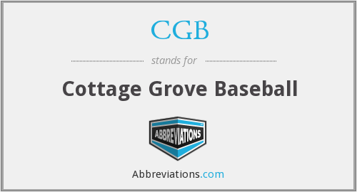 CGB - Cottage Grove Baseball
