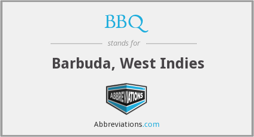BBQ - Barbuda, West Indies