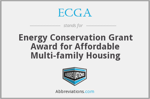 ECGA - Energy Conservation Grant Award for Affordable Multi-family Housing