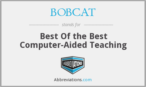 BOBCAT - Best Of The Best Computer Aided Teaching