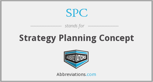 SPC - Strategy Planning Concept