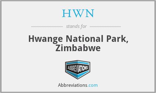 HWN - Hwange National Park, Zimbabwe