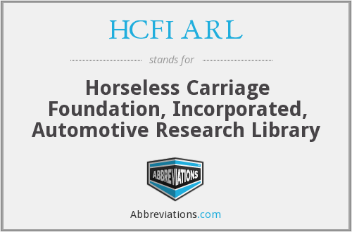 What does HCFI ARL stand for?