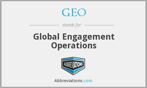 GEO - Global Engagement Operations