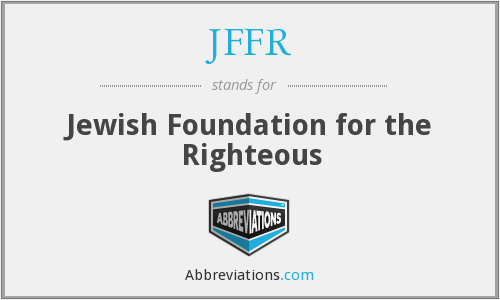 JFFR - Jewish Foundation for the Righteous