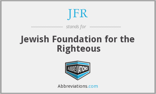 JFR - Jewish Foundation for the Righteous