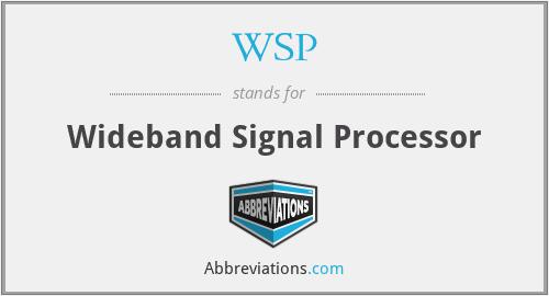 WSP - Wideband Signal Processor