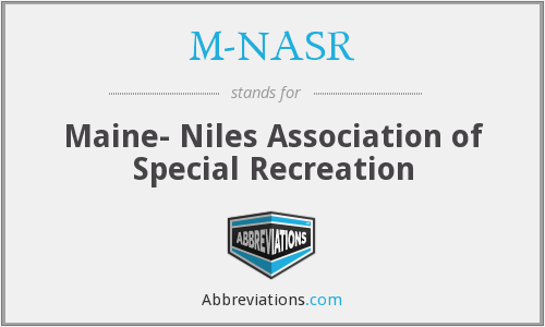 M-NASR - Maine- Niles Association of Special Recreation