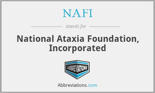 NAFI - National Ataxia Foundation, Inc.