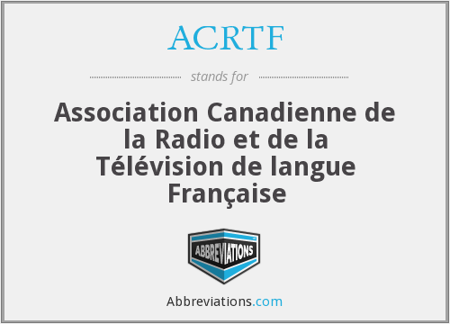 What does ACRTF stand for?
