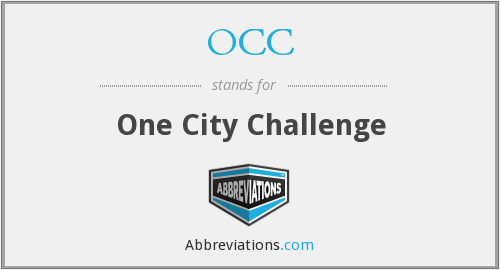 OCC - One City Challenge