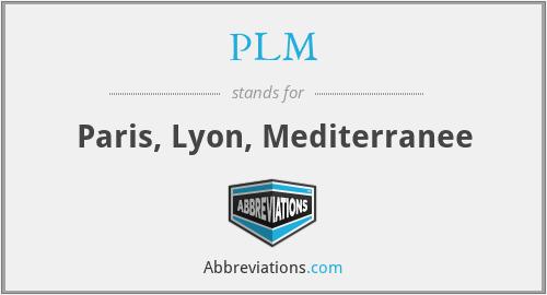 PLM - Paris, Lyon, Mediterranee