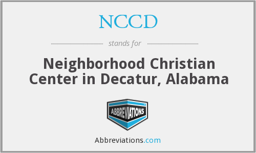 NCCD - Neighborhood Christian Center in Decatur, Alabama