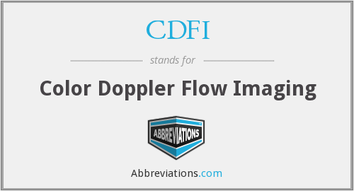 CDFI - Color Doppler Flow Imaging