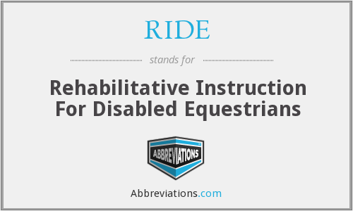 RIDE - Rehabilitative Instruction For Disabled Equestrians
