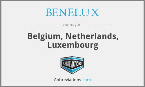 BENELUX - Belgium, Netherlands, Luxembourg