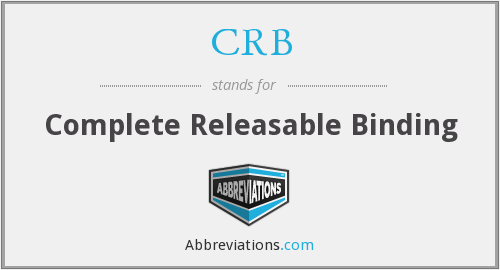CRB - Complete Releasable Binding