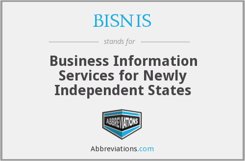 BISNIS - Business Information Services for Newly Independent States